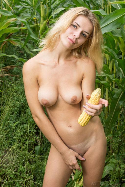 Young Russian model Yelena set Farm Girl by MetArt