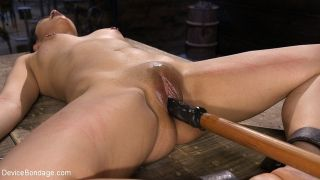 Rose Darling gothic submissive is bound for spanki