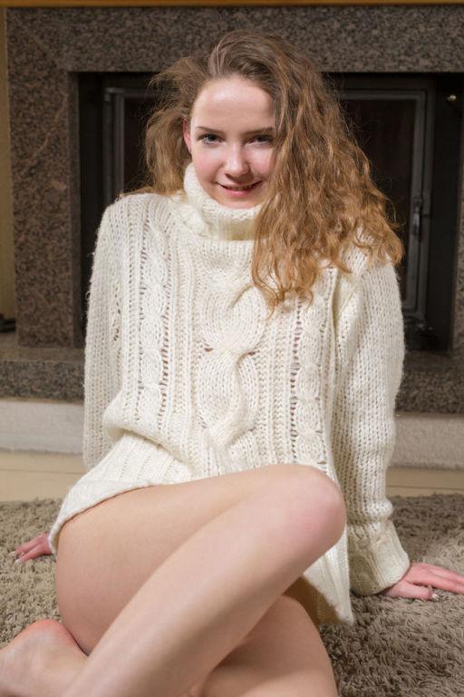 Young model Faina Bona set Sweater Weather by MetA