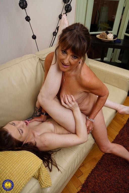 Teeny babe Monika Wild and lesbian horny mom fool