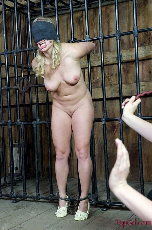 Dia Zerva captive busty blonde in bondage is clea