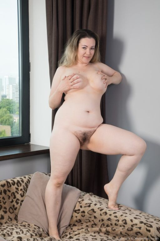 Marsela strips naked after finishing her laundry