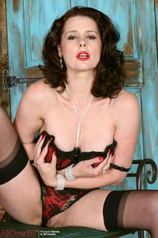 naked Karina Currie -all over 30 brunette