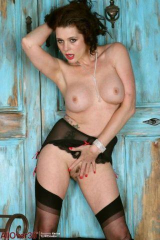 naked Karina Currie busty brunette