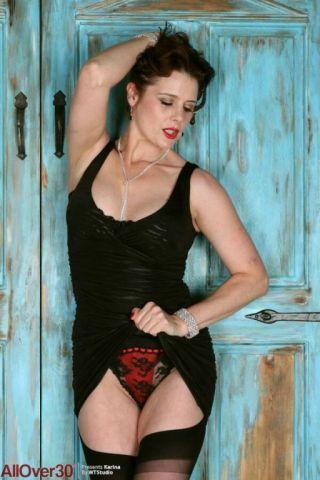 porn Karina Currie stockings big tits