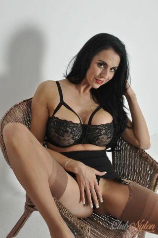 porn Louise Jenson lingerie nylon