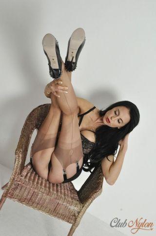 naked Louise Jenson erotic nylon
