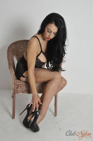 sexy Louise Jenson erotic stockings