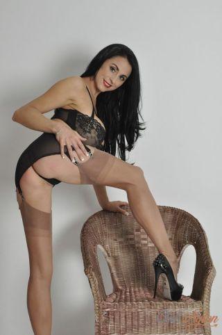 nude Louise Jenson high heels british