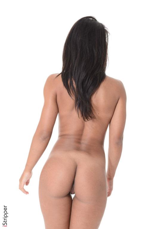 Latina babe Ria Rodriguez spreading hot round ass