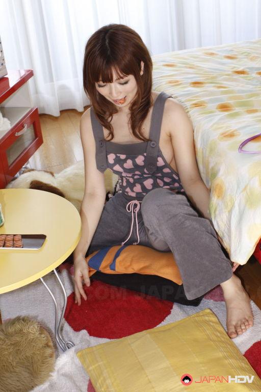 Kaori Aikawa shows her hairy pussy