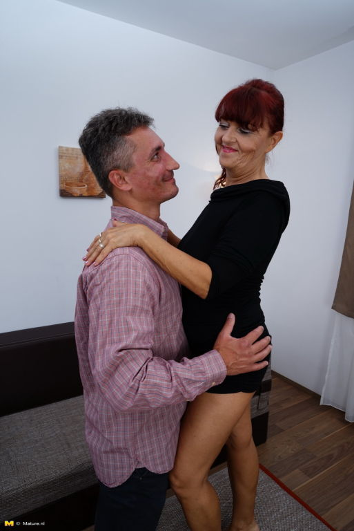 Naughty mature slut getting horny with her lover