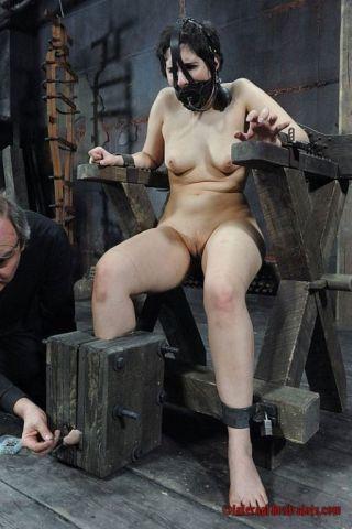 naked Marina Mae submissive spanking