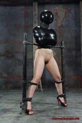 porn Marina Mae spanking tied