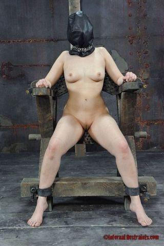 naked Marina Mae tied spanking