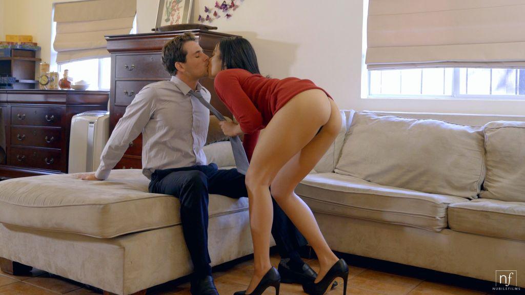 Latina Maya Bijou peels off her miniskirt