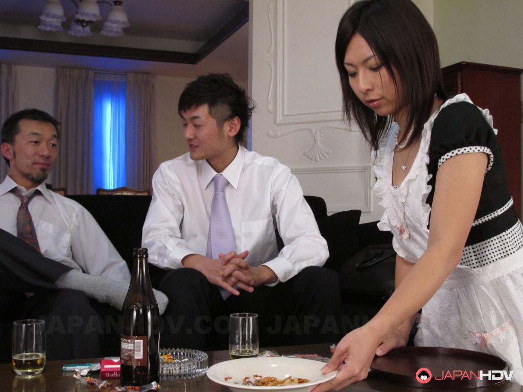 Hottie Himeki Kaede in a threesome