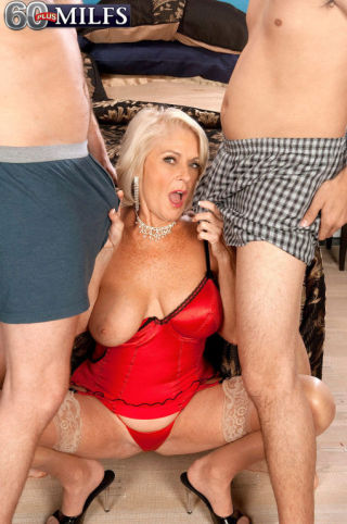 naked Georgette Parks threesome -60 plus milfs