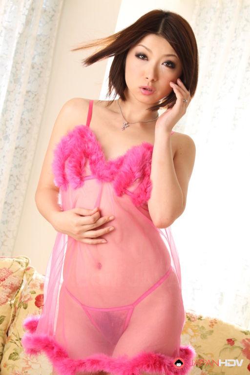 Asian pornstar Tsubaki in a dress