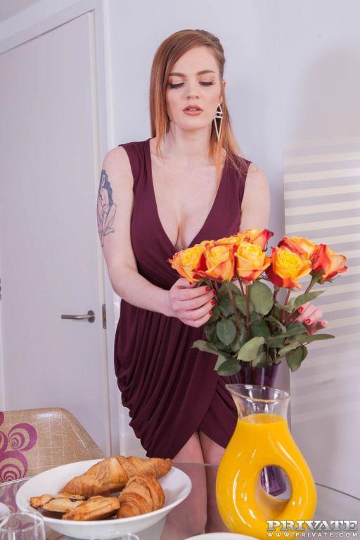 Carly Rae, Gorgeous Redhead Enjoys Fuck at Breakfa