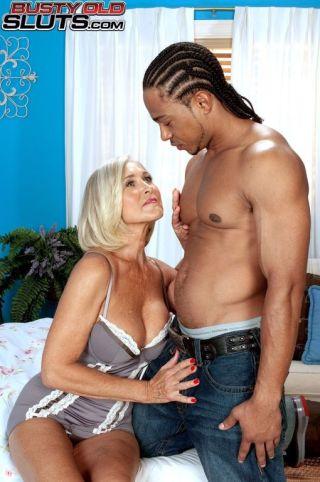 sexy Katia big tits interracial