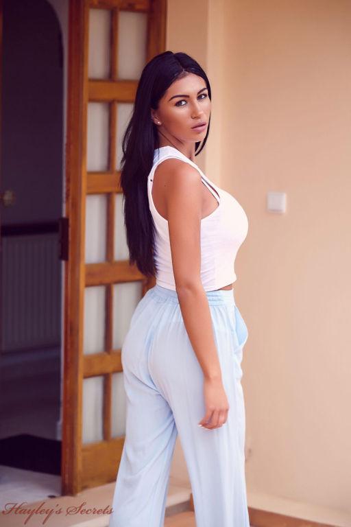 Hot busty fit brunette in undies