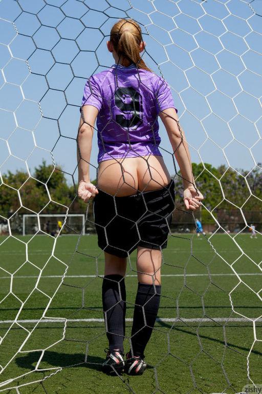 Blonde soccer girl Bailey Rayne