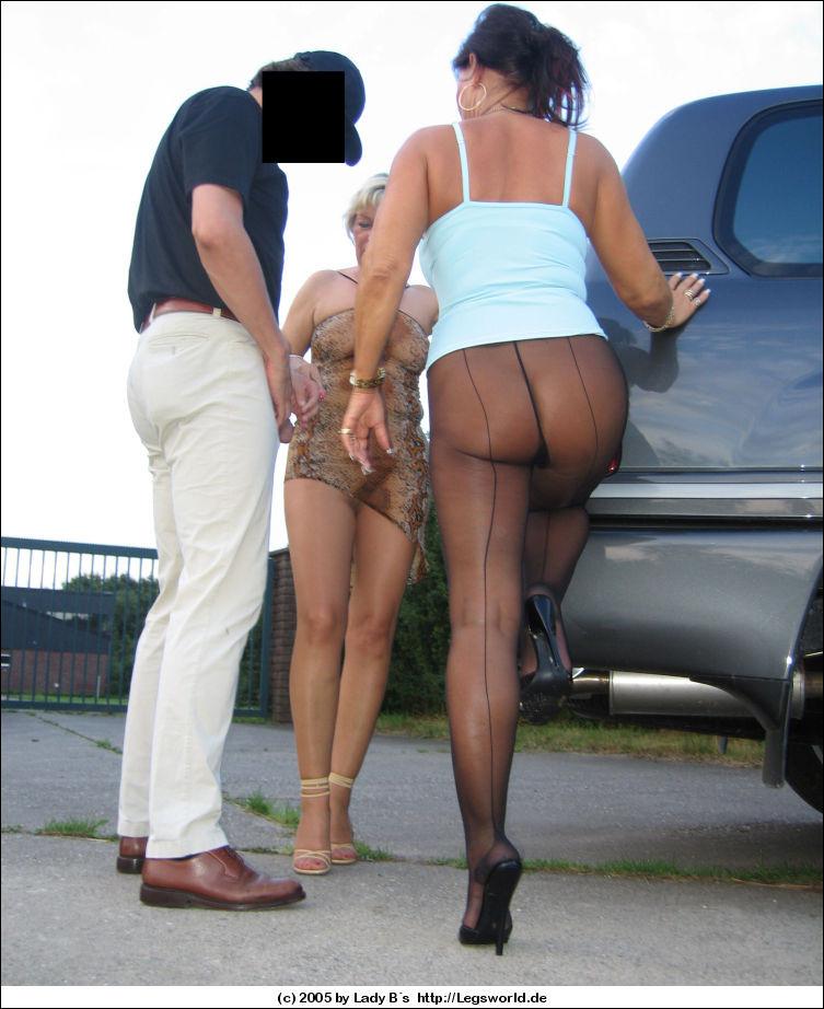 Latex Babes Giving Handjob