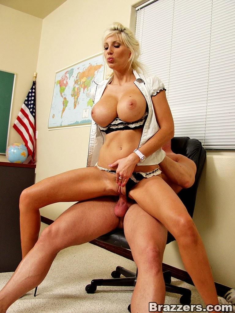 Beautiful blonde spreads her legs