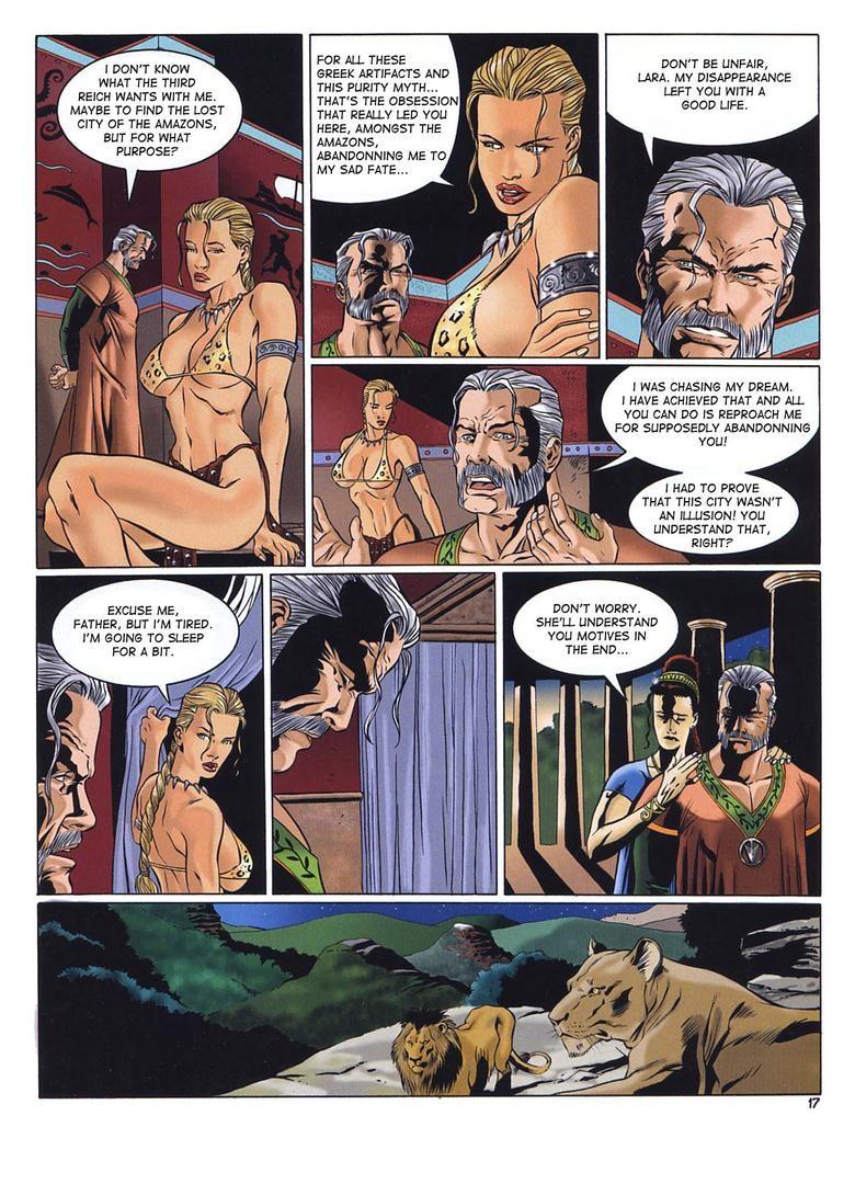 Adult Comics Nude adult sex comic featuring lara croft - pichunter