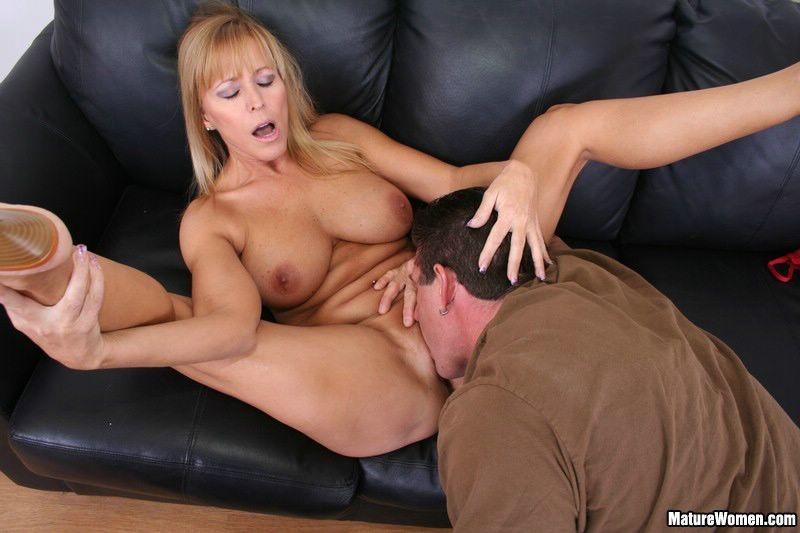 Busty Blonde Homemade Blowjob