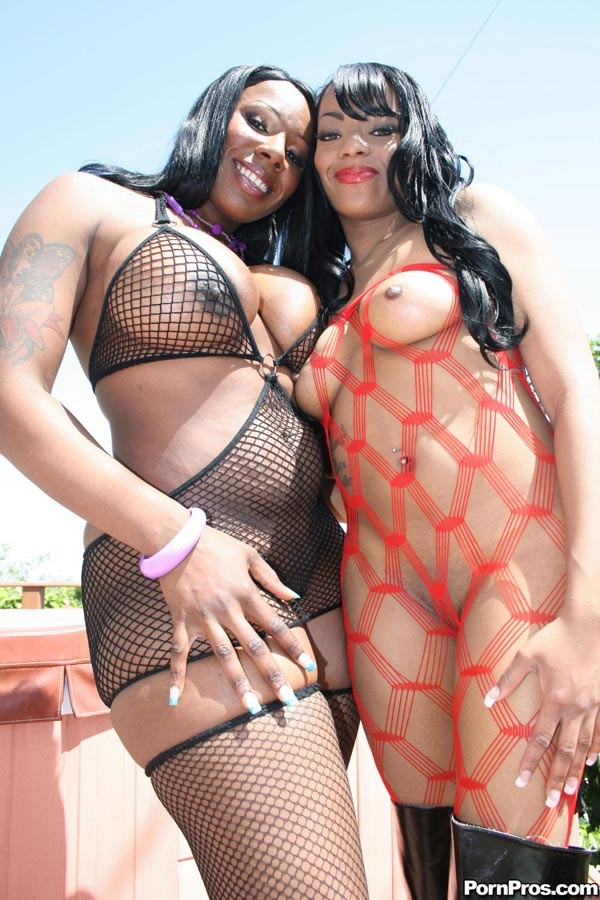 First Time Ebony Threesome