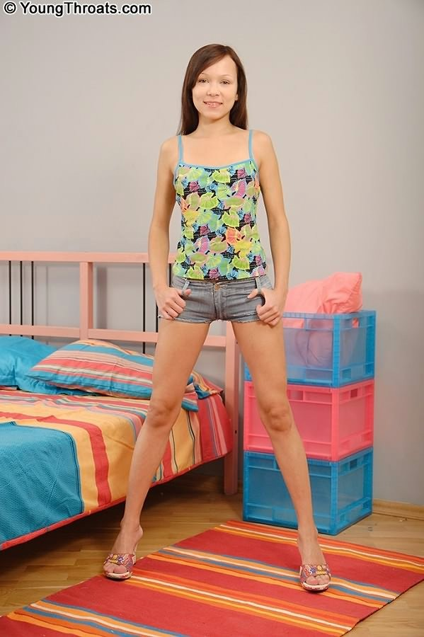 Petite Brunette Teen Stockings