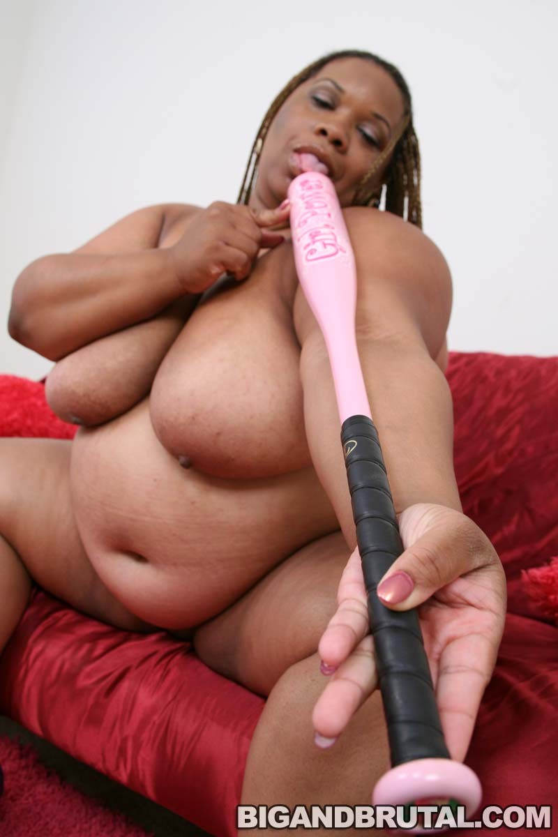 Bat Porno a big ebony momma inserting a baseball bat - pichunter