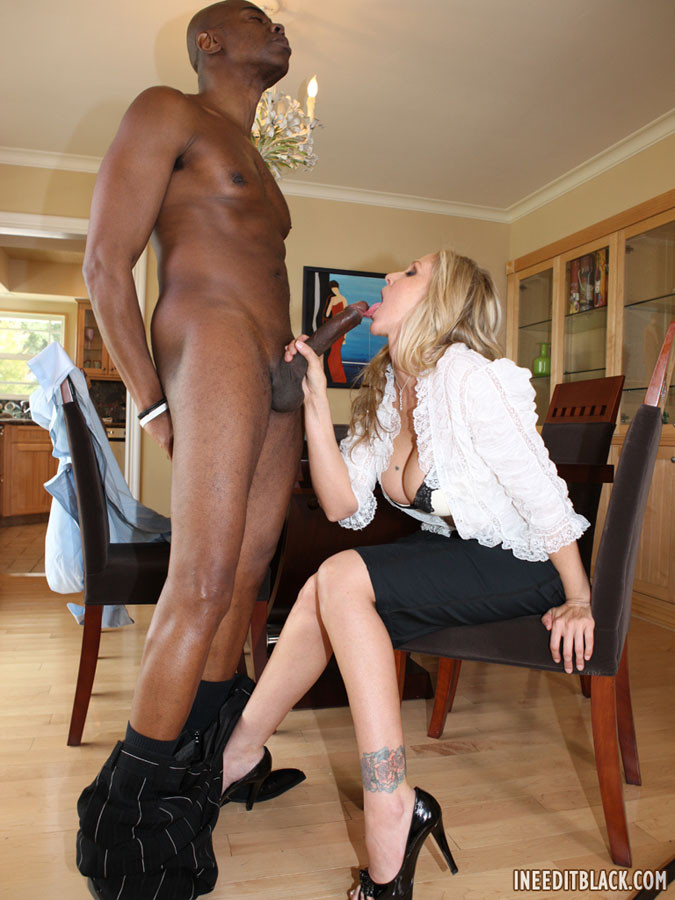 Ebony Milf Fucks Young Cock