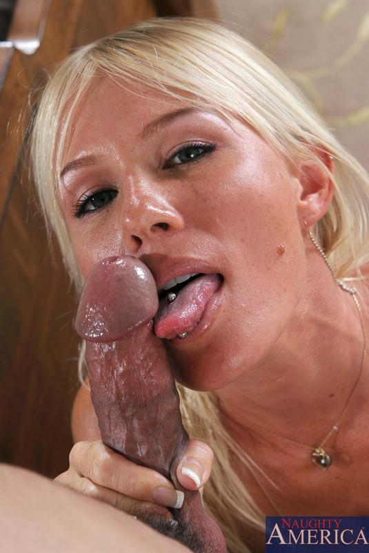 thick blonde milf blowjob