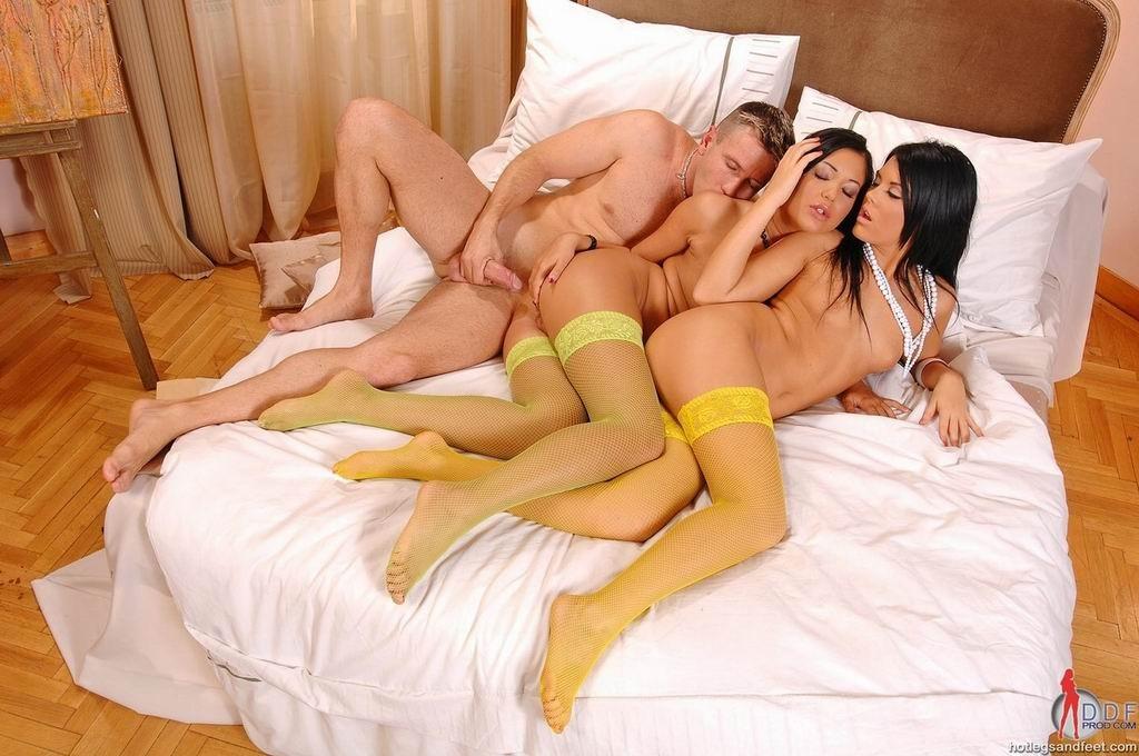Rough Black Ebony Threesome