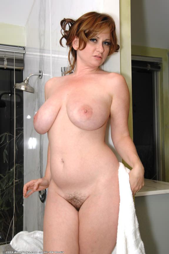 curvy milf in shower