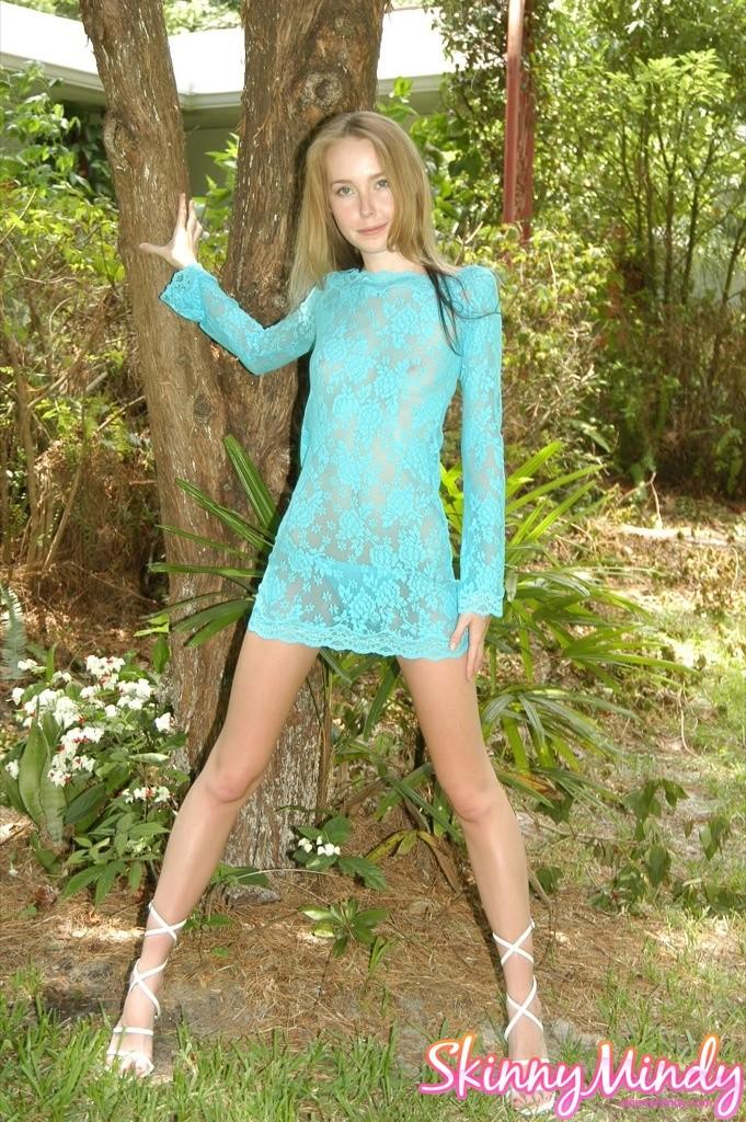 Skinny Blond Teen Russian