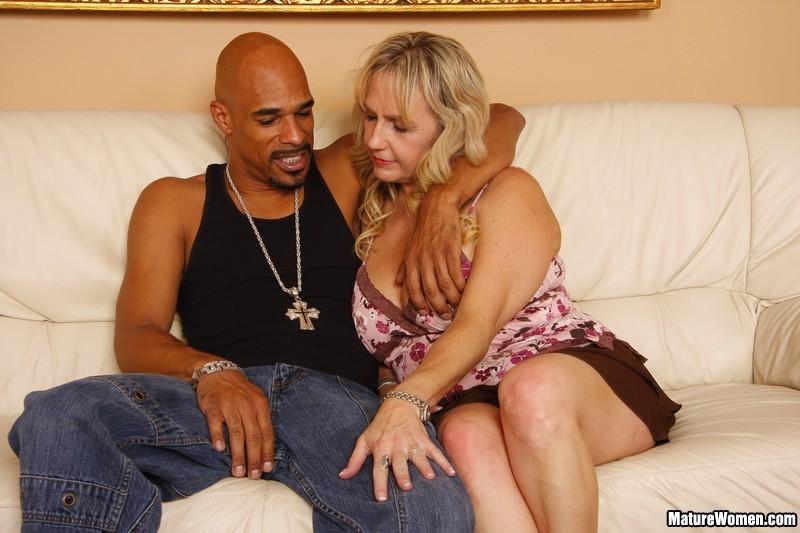 Mature Blonde Interracial Dp