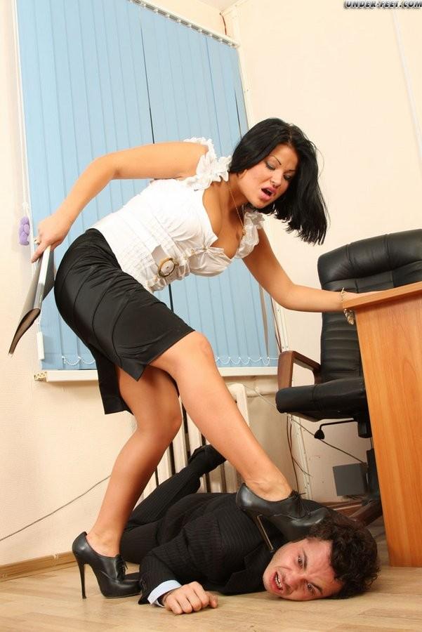 Lesbian Office Foot Worship