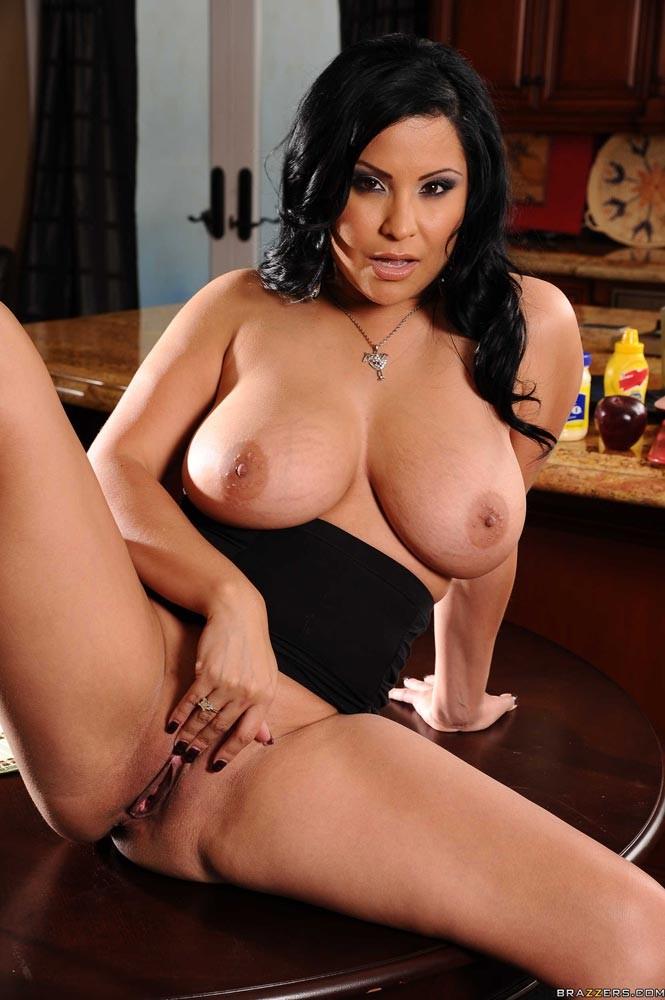 Big Tit Tanned Brunette