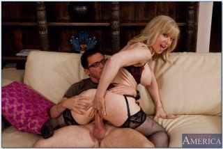 Naughty Nina Hartley loves getting nailed by huge