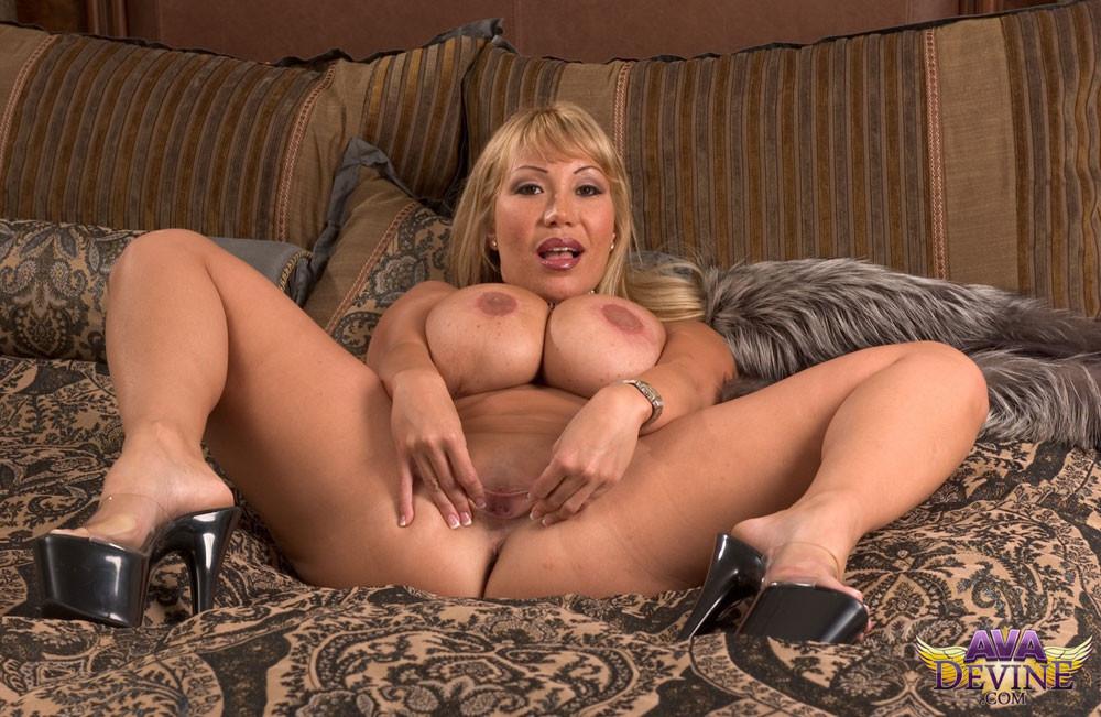 Skinny nude twink outdoors