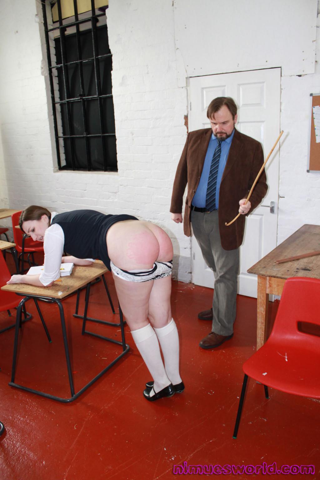 Bare fanny spanking