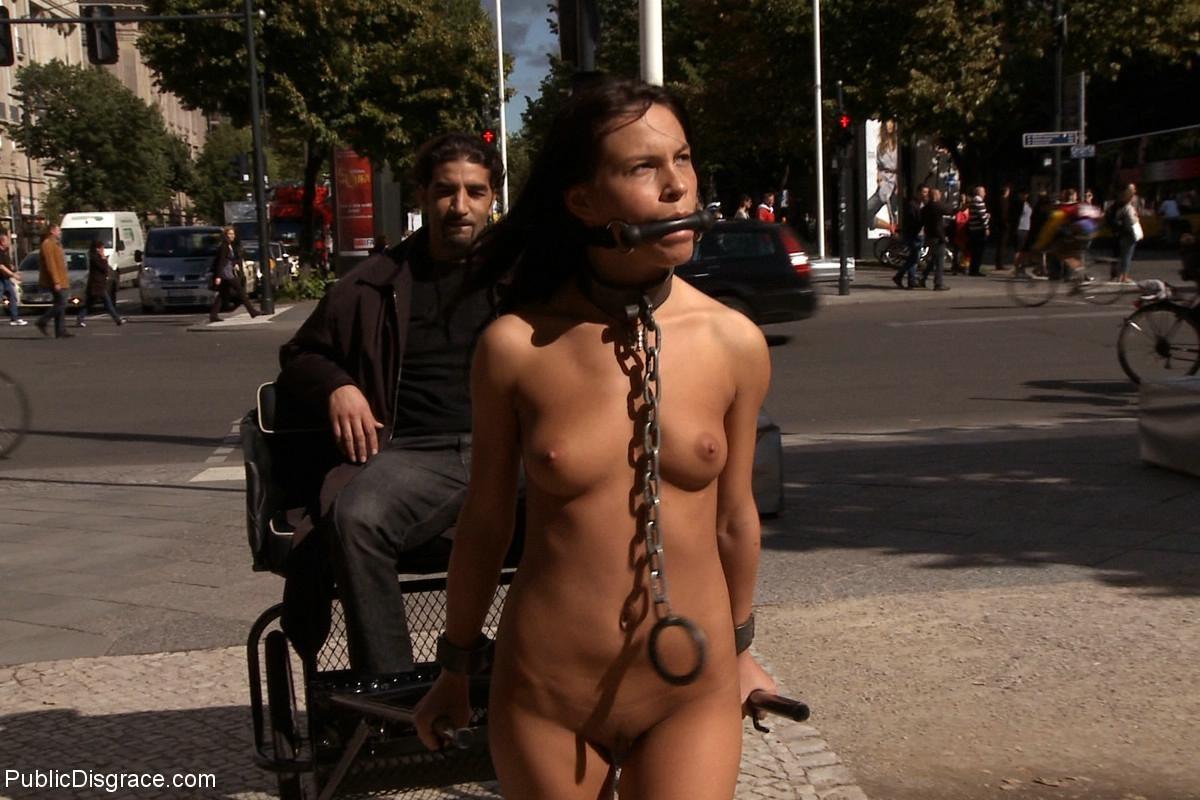 boy stripped nude public