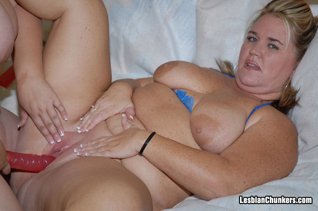 Busty Blonde Lesbian Strapon