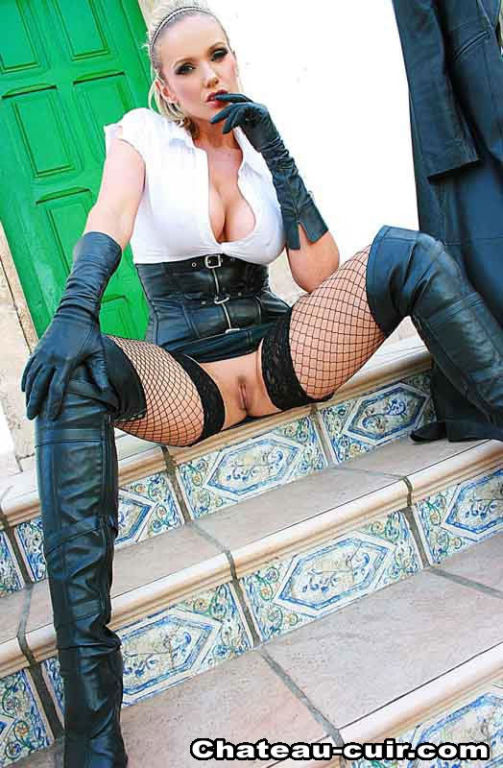 Leather mature porn