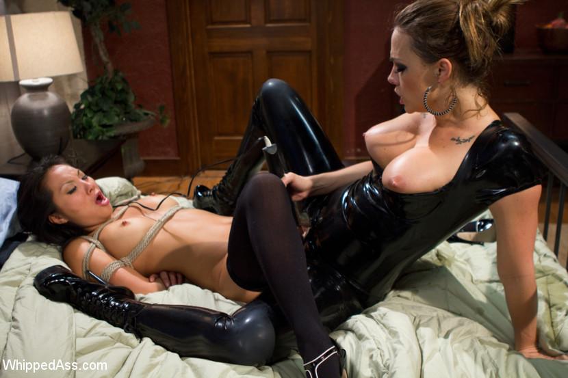 Latex Lesbian Maid Bondage