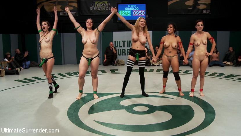 Ebony Lesbian Orgy Strapon